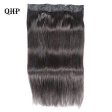Clip in human hair extensions 10 inches with 5 clips/piece Natural Pure Color Extensions Straight Brazilian Remy Hair 70g/pc(China)
