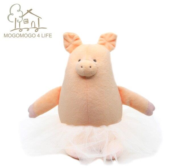 Luksusowe baleriny świnia pluszowa piękny gruby okrągły zwierzę dziecko sen uspokoić zabawki Kawaii ręcznie różowe lalki świnki