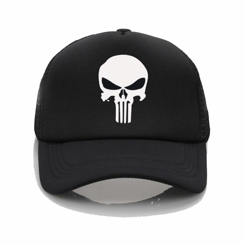 The Punisher Baseball Cap Men And Women Hats Summer Sun Hat Graffiti Baseball Cap Snapback Hats