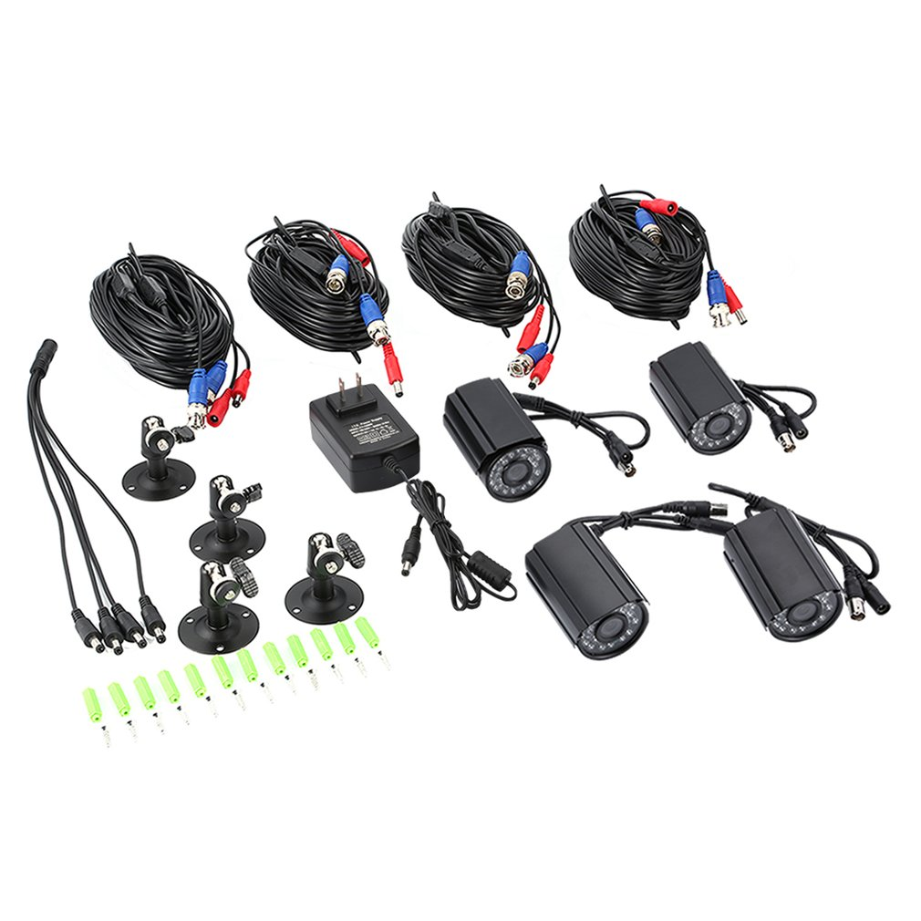 4PCS 720/1080P AHD Waterproof CCTV Camera Kit IR CUT 30 LED Lamps Security Cameras Outdoor For CCTV System Kit