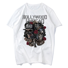 2019 hollywood undead male men t-shirt band music rock n roll new t shirt print pattern o-neck tee quality casual