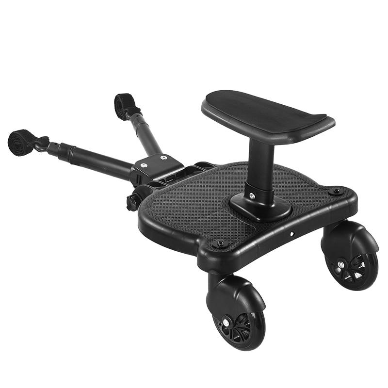 Универсальная педаль коляски адаптер второй ребенок коляски вспомогательный трейлер Близнецы скутер колдун дети стоячая пластина с сиден...