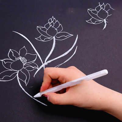 Único headed branco marcador caneta cor marca mágica à prova dwaterproof água para tecido oleosa disco óptico logstics frete grátis suprimentos de escrita