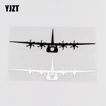 YJZT 16.7X4.5CM Personality Car Sticker Aircraft Funny Vinyl Decal Black / Silver 10A-0022 image
