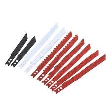 10個のu シャンクジグ鋸刃セット黒とデッカージグソーパズル金属プラスチック木材ブレード