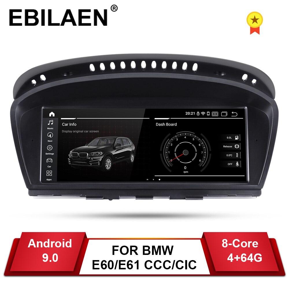YUEMAIN Android 9.0 Car DVD Player GPS para BMW série 5 E60 E61 E62 E63 3 series E90 E91 CCC /CIC Navegação AutoRadio Multimídia