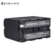 4pcs 7 2v 7200mah np f960 f970 power display battery 1 ultra fast 3x faster dual charger for sony f930 f950 f770 f570 ccd rv100 PALO 7200mAh NP-F960 NP-F970 NP F960 F970 F950 Battery for Sony PLM-100 CCD-TRV35 MVC-FD91 MC1500C L10