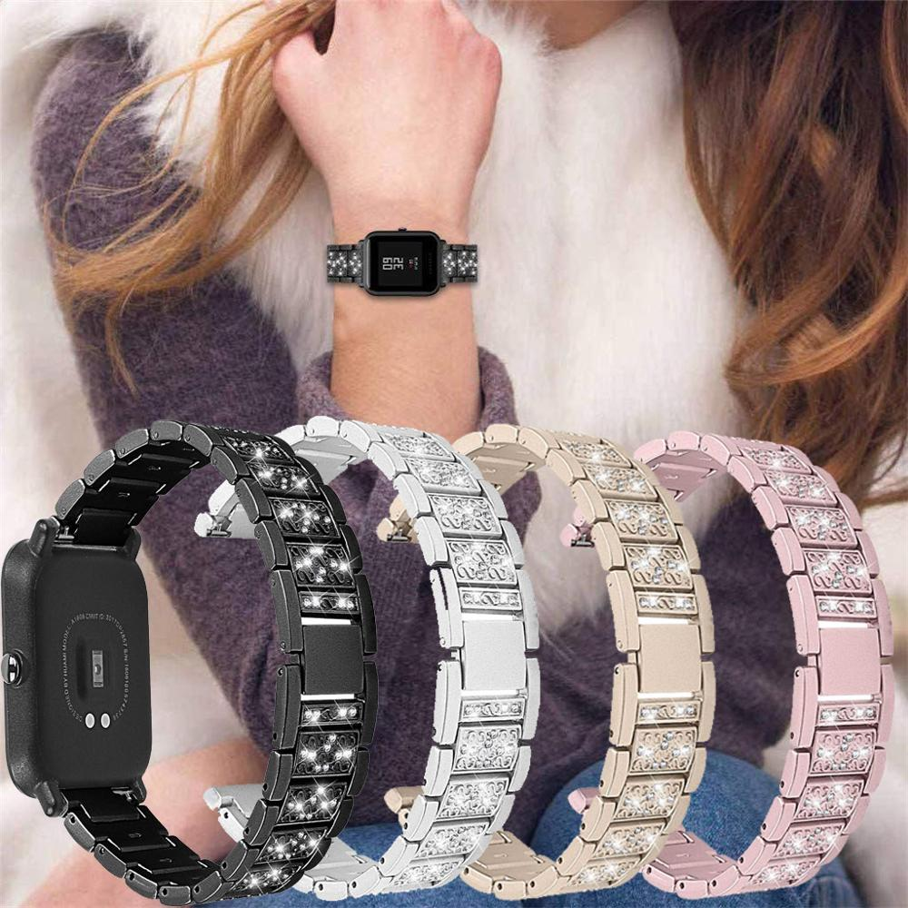 20mm 22mm Loop Strap  For Amazfit Bip Band Strap Stainless Steel Bands Bracelet Straps Quick Release