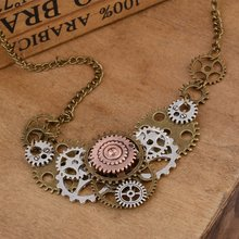 personality necklace  / European and Americanx  vintage necklace gear pendant steampunk jewelry retro exaggerated power game necklace ice and fire song necklace personality vintage tangle august dragon pendant