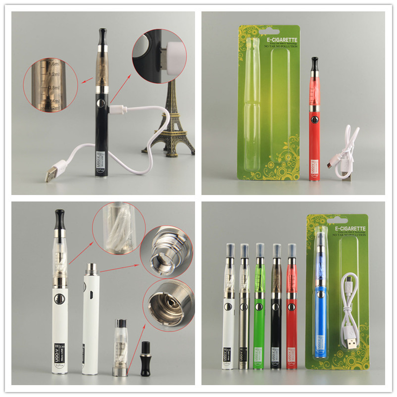 650mAh EVod Hookah Battery Electronic Cigarette With CE4 Vaporizer Atomizer Vaper Kit For Ugo-V2 5pin Passthrough Pen