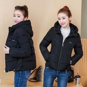 Image 2 - Winter Parka Jacket Women Short Coat Down Cotton Female Warm Thick Clothing Autumn Outerwear Quilted Fall Sport Hooded Zipper