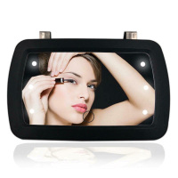6-LED Car Vanity Mirror Lighted Black Clip On Sun Visor Touch screen design