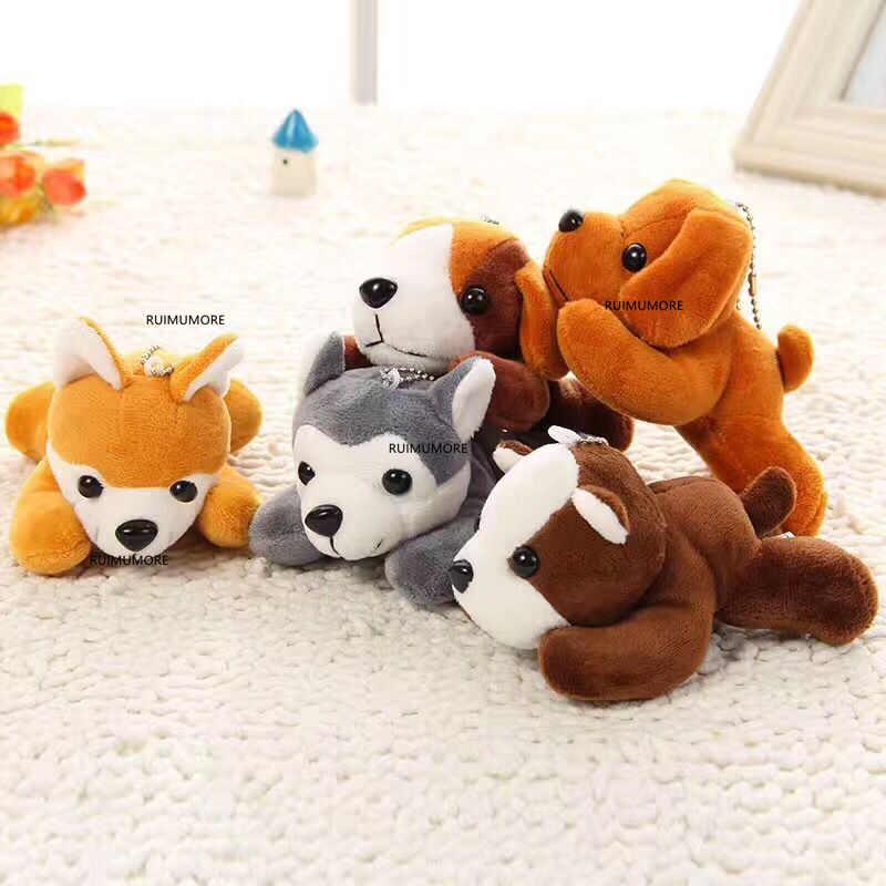 عيون جميلة جديد الكلب 10 سنتيمتر ألعاب من القطيفة ،-الكلب ألعاب من القطيفة-أفخم مفتاح سلسلة محشوة دمى دمية على شكل كلب