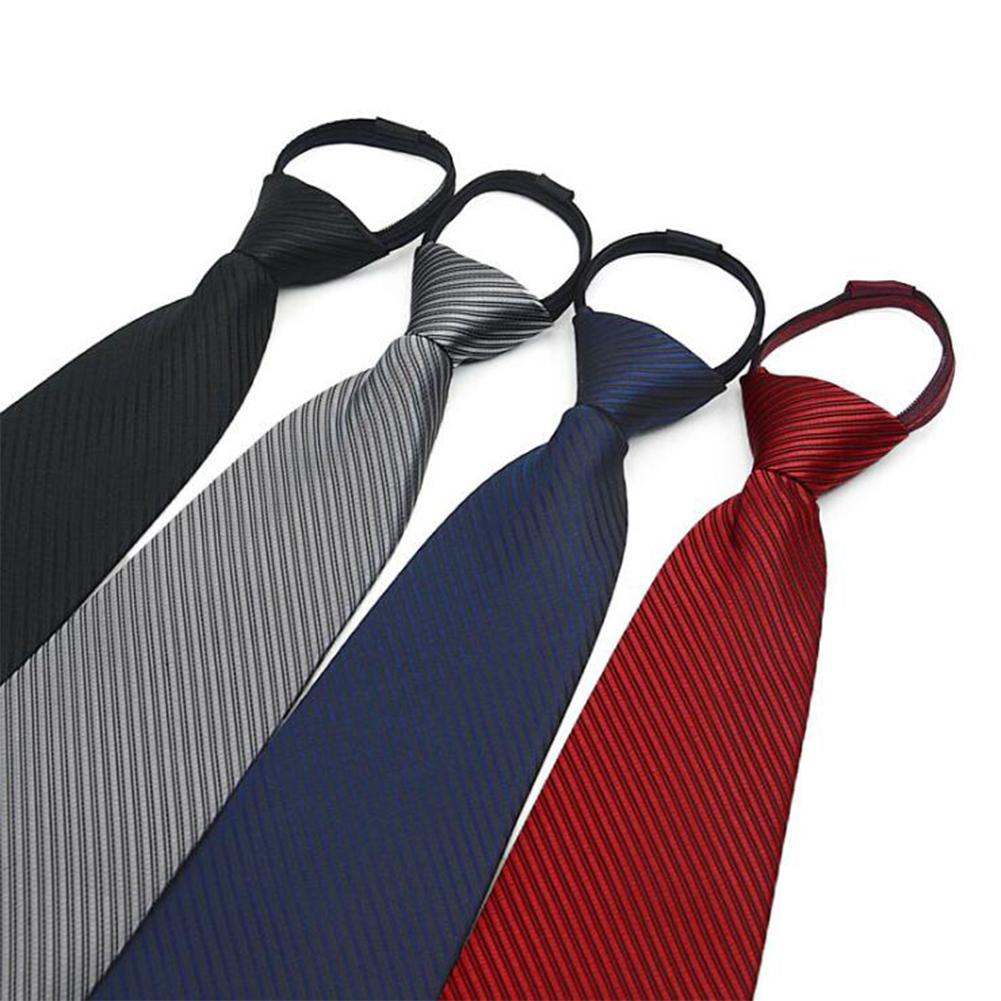 New Wide Silk Ties For Men Striped Solid 10cm Men's Business Red Wedding Suit Neck Tie Black White Blue Gravatas Men Gift Hot