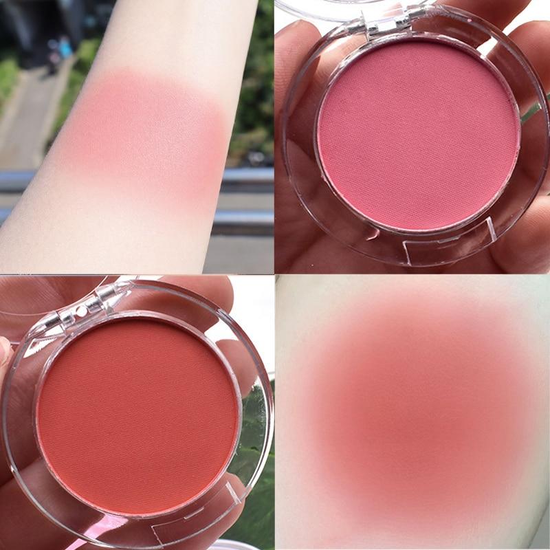 Leite chá blush pallete pêssego 6 cores rosto mineral pigmento bochecha blush pó maquiagem profissional contorno sombra rosa blush