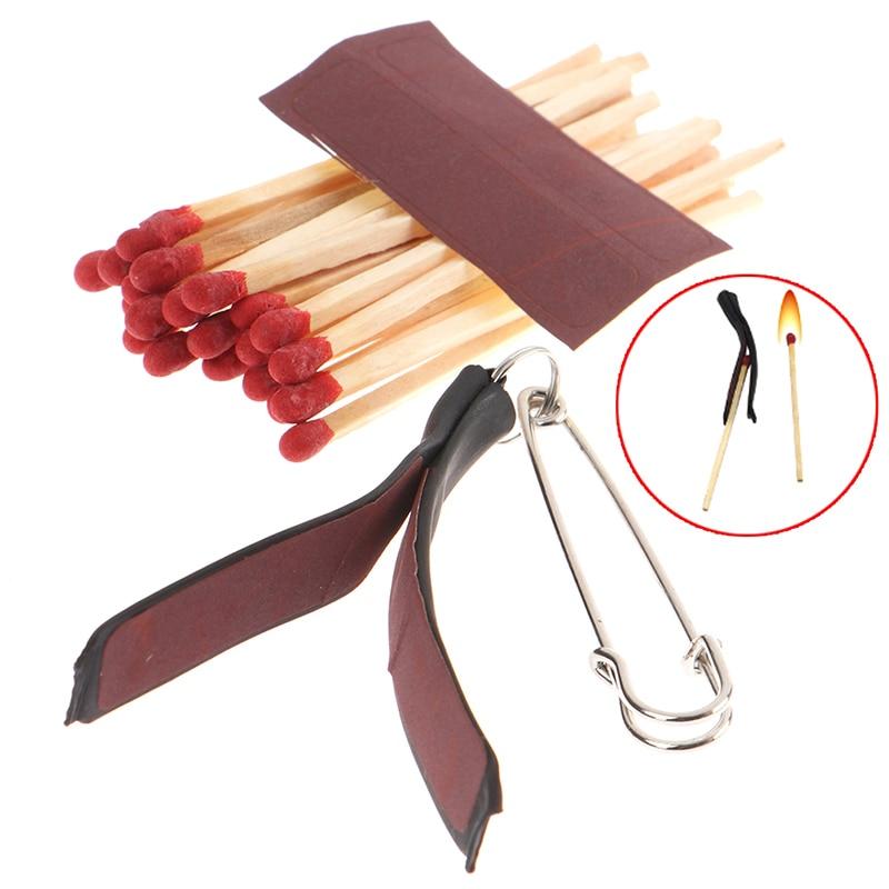 Multi Lit Match Fire Magic Tricks Three Clip Matches Pull Burning Stage Magic Props Accessories Gimmick