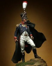 1/32 54mm โบราณภาษาฝรั่งเศสคำ Grenadier ขาตั้ง (ฐาน) รูปเรซิ่นชุด Miniature GK Unassembly Unpainted