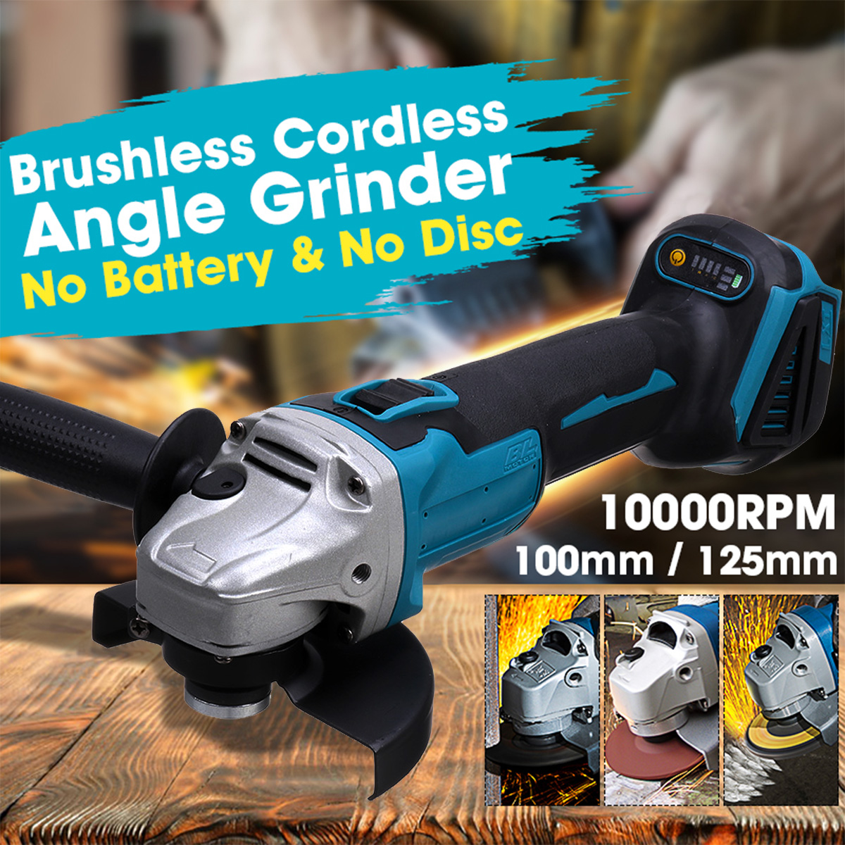 100mm/125mm Brushless Cordless Impact Angle Grinder Variable Speed Grinder Cutting Machine For 18V Makita Battery|Grinders|   - AliExpress
