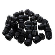 20 штук черный пластиковый водонепроницаемый кабельный ввод Разъем PG7