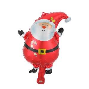 10 шт./компл. Мини Размер Счастливого Рождества фольги шары Снеговик Санта Клаус Рождественская елка украшения Рождественские вечерние прин...
