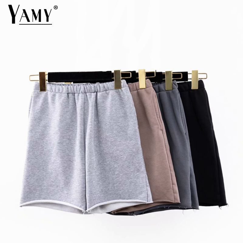 2020 Summer Biker Shorts Cotton Sweatpants High Waist Vintage Shorts Short Feminino Boy Shorts For Women Sweatpants Short Mujer