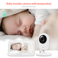4.3 inch Baby Monitor Wireless VOX Security IP Camera Nanny IR Night Vision Two way Talkback With Temperature Monitoring