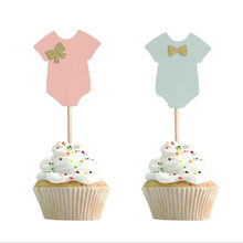 Décorations pour réception-cadeaux pour bébé, vêtements pour garçons et filles, cupcakes, outils de décoration de fête d'anniversaire, bricolage pour enfants, 10 pièces