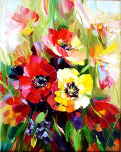 Flower 5D DIY Full Square Diamond Painting Bouquet Embroidery Rhinestone Picture Mosaic Gift DropShip