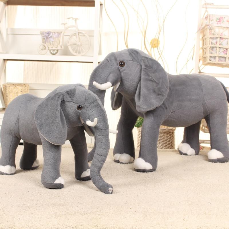 37 см * 26 см слон в реальной жизни, мягкие плюшевые игрушки, искусственное животное, игрушка, кукла, домашний декор, аксессуары, игрушки