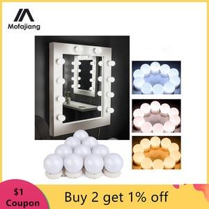 LED Makeup Mirror Light Bulb Hollywood Vanity Light Strip Wall Lamp Desktop Table Dressing Room Bathroom Valentine's Day Gift