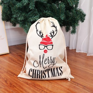 Image 3 - Large Size Christmas Bags Santa Sacks Merry Christmas Xmas Party Happy New Year Holiday DIY Decorations Favor Gifts Bags