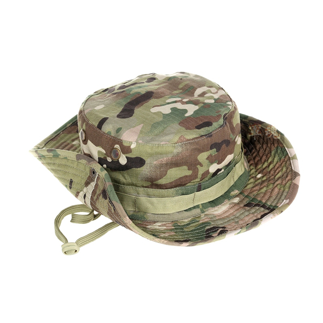 Tactical Boonie Hat Army Fisherman Cap Military Training Sun Protector  Hat Outdoor Sports Camouflage Fishing Hiking Hunting Cap 1