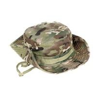 Táctico Boonie sombrero ejército pescador de entrenamiento militar sol sombrero Protector de deportes al aire libre camuflaje pesca senderismo gorra de caza
