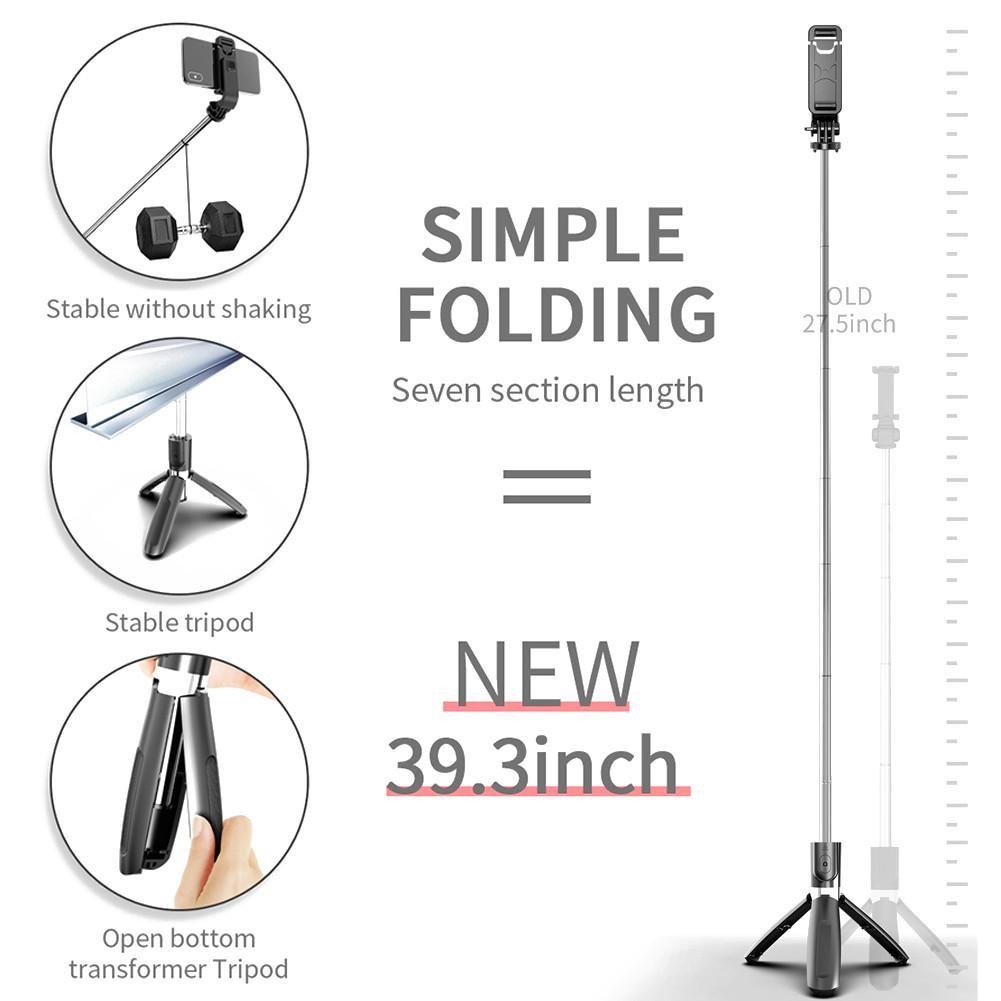 Bluetooth mudah alih baru 5.0 selfie stick alat kawalan jauh tripod - Kamera dan foto - Foto 5