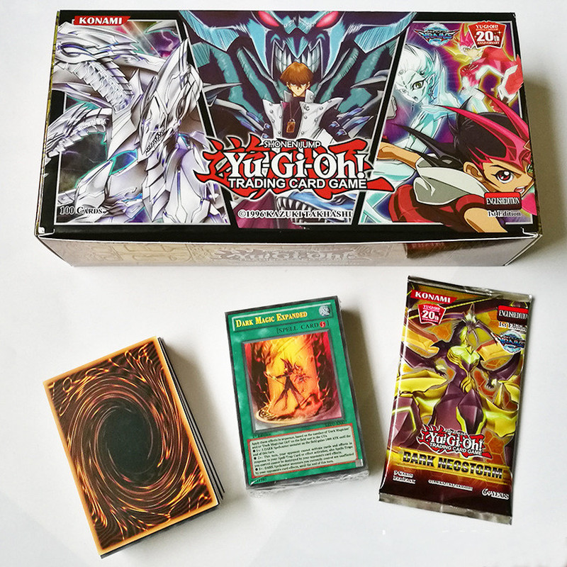 100pcs Anime Duel Monsters Cosplay Props YU GI OH English Card Yugi Muto FULL Edition Game Card Collection Books Kids Toy Gift image