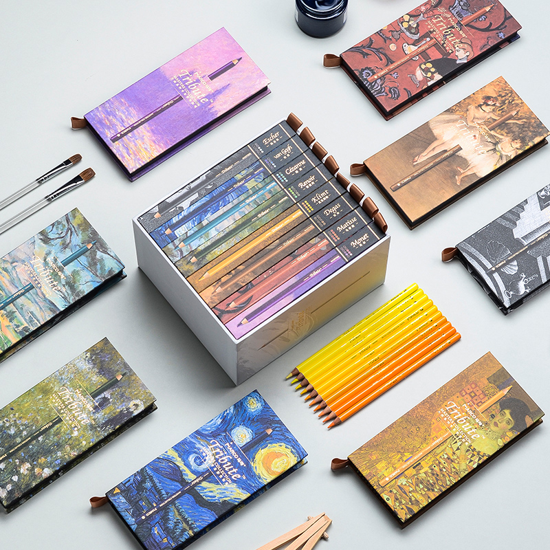 Conjunto de lápices de colores de dibujo para Artista de Arte Fino profesional de 80 colores - 3