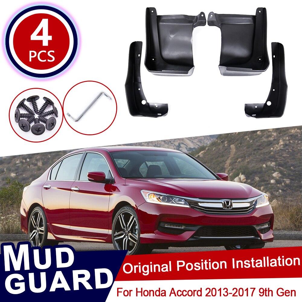 2018 For Honda Accord Sedan Mud Splash Flaps Guards Mudguard Fender 4pcs