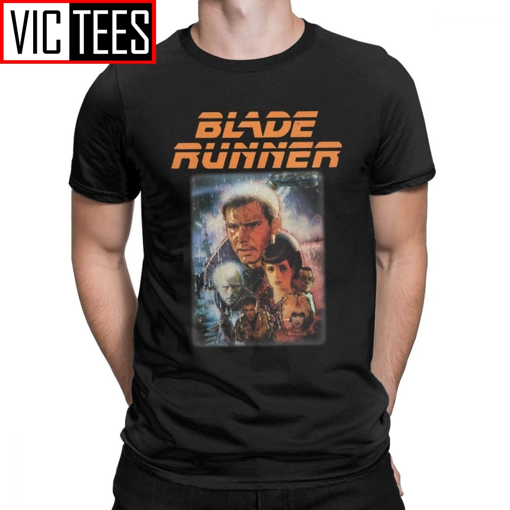 Blade Runner Men T Shirt Deckard Movie Blaster Ridley Fiction Sci Fi Fashion Tees Round Neck T-Shirt Cotton New