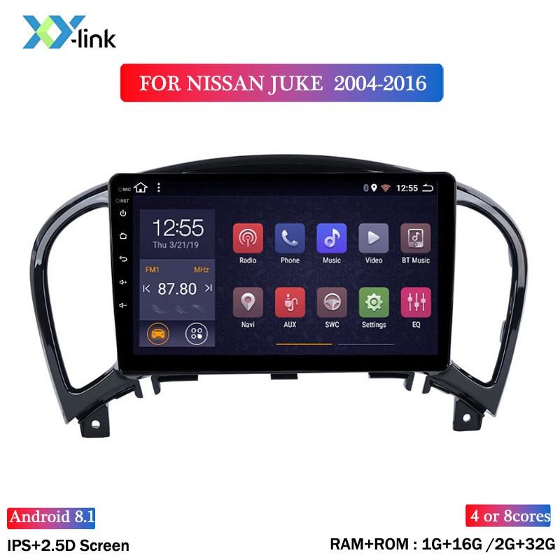 Autoradio 9 pouces écran Android 8.1 lecteur DVD multimédia pour NISSAN JUKE 2004-2016 voiture GPS système de Navigation bluetooth