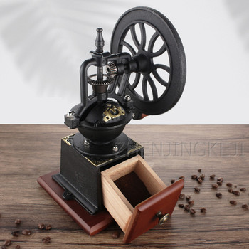 Manual Coffee Bean Grinder Home Use Coffee Grinder Hand Crank Large / Small Runner Grinder Kitchen Appliance кофемолка ручная
