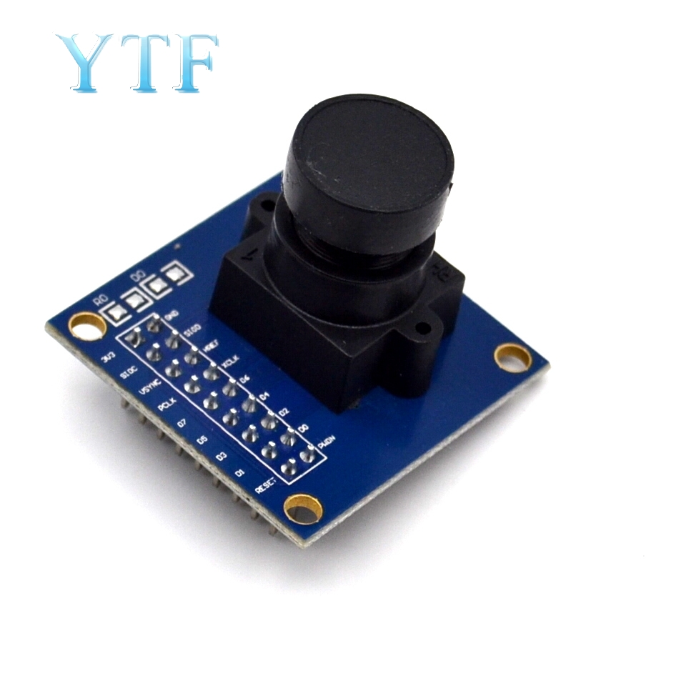 OV7670 300KP Camera Module Supports VGA CIF 640X480 Auto Exposure Control Display Compatible I2C Interface For Arduino