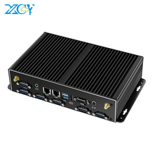 Fanless Mini PC Industriale Intel Core i7 5500U i5 4200U i3 4010U Finestre 10 2 * DDR3L 2 * LAN wiFi 4G LTE 6 * RS232 6 * USB HDMI VGA