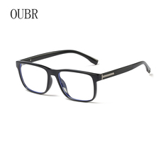 OUBR Mens  and lightweight comfortable anti-blue glasses computer optical frame ladies square high quality