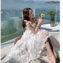 2021 Summer Women Dresses Slip Dress Kawaii Clothes Elegant White Women's Clothing Cottagecore Harajuku Wedding Sundresses