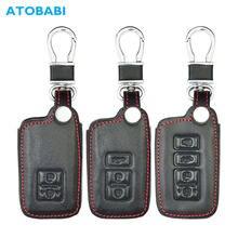 Funda de cuero para llave de coche para Toyota Camry Avon Corolla RAV4 Highlander 2/3/4 botones Smart Remote Fob funda para llavero automático