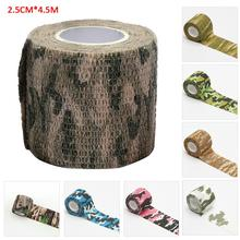 4.5mElastoplast Camouflage Bandage First Aid Kit Waterproof Outdoor Camouflage Non-woven Self-adhesive FingerArm Elastic Bandage