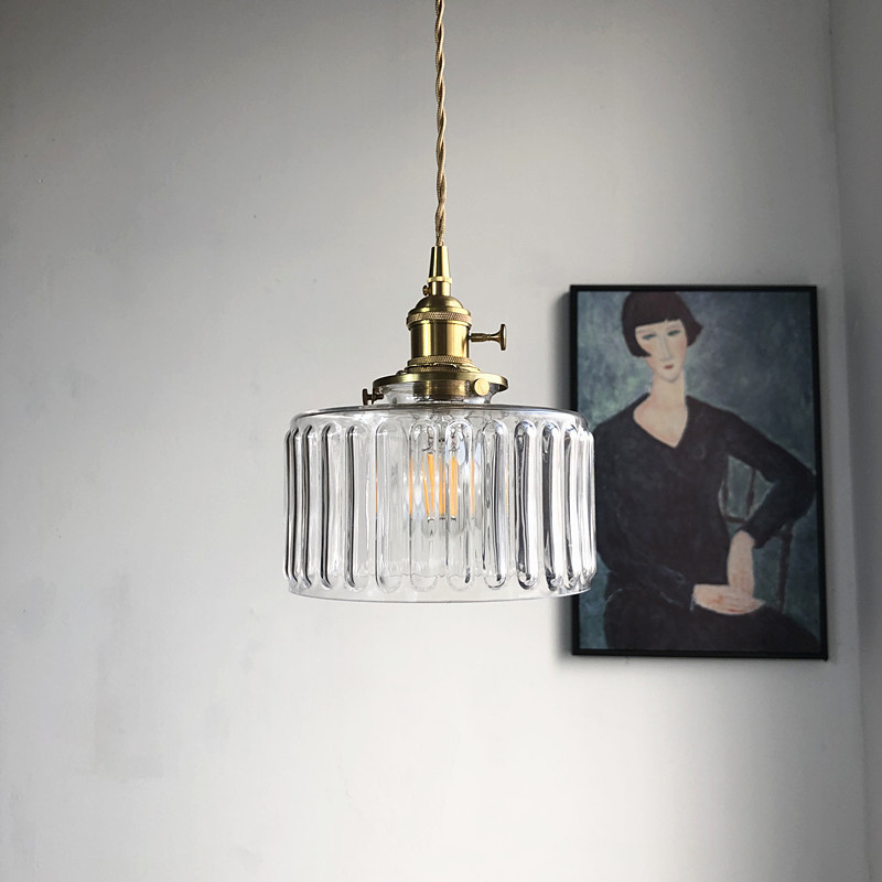 Color Nordic Pendant Light Lamp Glass Design Deco Led Hanging Light Fixtures Bedroom Modern Copper Japanese Luminaire Suspension