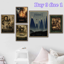 Lord Of The Rings The Hobbit Movie kraft paper Posters Wall Poster Prints Pictures For Bedroom Decoration(China)