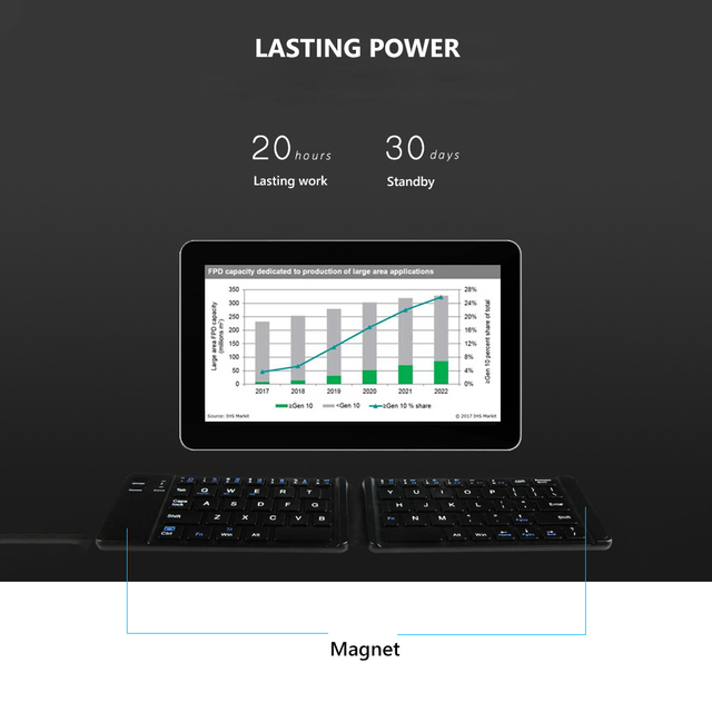 Folding Keyboard Wireless  3