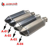 Alconstar- Universal Motorcycle Dirt Bike Exhaust Escape Modified Scooter Akrapovic Exhaust Muffle Fit for Most Motorcycle ATV